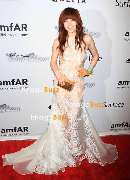 Carly Rae Jepsen attends the 4th Annual amfAR Inspiration Gala. New York, June 14, 2013.