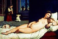 Renaissance Art:  Tiziano(Titian)--Lying Venus.  Galleria Uffizi.