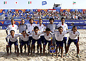 Japan team group line-up (JPN),SEPTEMBER 2, 2011 - Beach Soccer :FIFA Beach Soccer World Cup Ravenna/Italy 2011, Group D match between Japan 2-3 Mexico at Stadio del Mare in Marina di Ravenna, Ravenna, Italy. (Photo by Wataru Kobayakawa/AFLO)