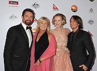 LOS ANGELES, CA - JANUARY 12: Hugh Jackman, Deborra-Lee Furness, Nicole Kidman and Keith Urban attend the 2013 G'Day USA Black Tie Gala at JW Marriott Los Angeles at L.A. LIVE on January 12, 2013 in Los Angeles, California.PAP0101387.G'Day USA Black Tie Gala PAP0101387.G'Day USA Black Tie Gala