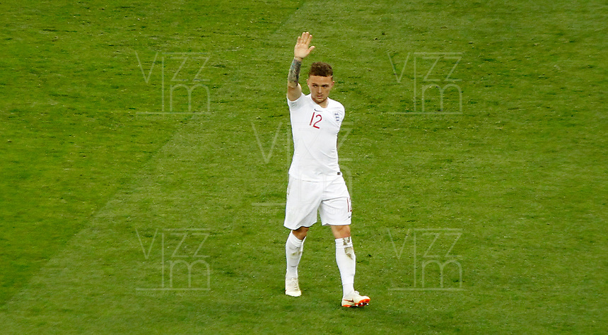 MOSCU - RUSIA, 11-07-2018: Kieran TRIPPIER jugador de Inglaterra celebra después de anotar el primer gol de su equipo a Croacia durante partido de Semifinales por la Copa Mundial de la FIFA Rusia 2018 jugado en el estadio Luzhnikí en Moscú, Rusia. / Kieran TRIPPIER player of England celebrates after scoring the first goal of his team to Croatia during match of Semi-finals for the FIFA World Cup Russia 2018 played at Luzhniki Stadium in Moscow, Russia. Photo: VizzorImage / Julian Medina / Cont