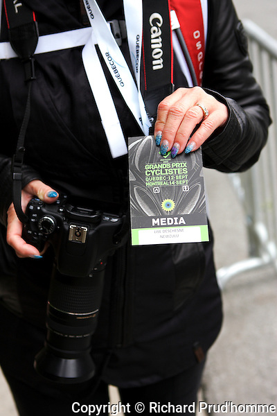 A media photographers pass to cover the Grand Prix Cyclistes held in Montreal