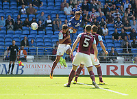 Cardiff City's Nathaniel Mendez-Laing scores his sides first goal  <br /> <br /> Photographer Ian Cook/CameraSport<br /> <br /> The EFL Sky Bet Championship - Cardiff City v Aston Villa - Saturday August 12th 2017 - Cardiff City Stadium - Cardiff<br /> <br /> World Copyright &copy; 2017 CameraSport. All rights reserved. 43 Linden Ave. Countesthorpe. Leicester. England. LE8 5PG - Tel: +44 (0) 116 277 4147 - admin@camerasport.com - www.camerasport.com