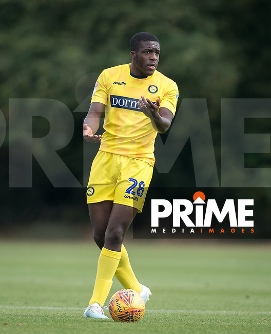 Nnamdi Ofoborh (on loan from Bournemouth) of Wycombe Wanderers during the behind closed doors friendly between Brentford B and Wycombe Wanderers at Brentford Football Club Training Ground & Academy<br /> 100 Jersey Road, TW5 0TP, United Kingdom on 3 September 2019. Photo by Andy Rowland.