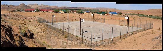 navajo nation. Abandoned basketball courts<br />