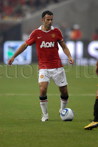 July 28 2010: Manchester United's Ryan Giggs during 5 - 2 win over the MLS All Stars at Reliant Stadium in Houston, TX.