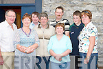 FESTIVAL: Having a good time at the Ardfert Festival on Sunday. L-r: Maurice McElligott, Breda OSullivan, Denis Ryle, Paddy Carroll, Tadhg Sullivan, Eileen Carroll, Eoin O'Sullivan and Mary O'Halloran. .