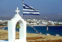 - Naxos island (Cyclades), little orthodox church on the beach of Agio Prokopios..- isola di Naxos (Cicladi), chiesetta ortodossa sulla spiaggia di Agio Prokopios..