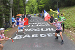 Fans during Stage 9 of the 104th edition of the Tour de France 2017, running 181.5km from Nantua to Chambery, France. 9th July 2017.<br /> Picture: ASO/Bruno Bade | Cyclefile<br /> <br /> <br /> All photos usage must carry mandatory copyright credit (&copy; Cyclefile | ASO/Bruno Bade)
