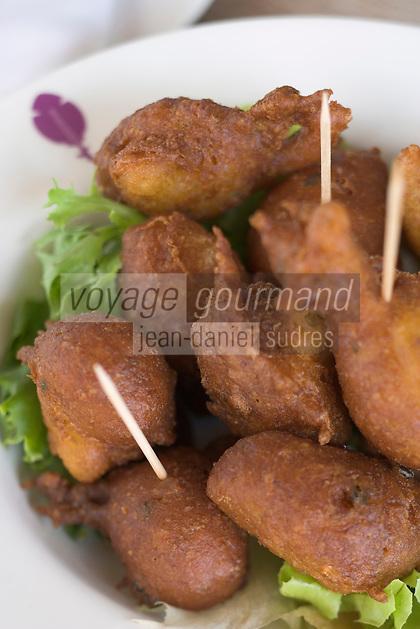 France/DOM/Martinique/Le François: Acras de Morue recette d'Hervé Rameau chef de l'Hôtel Cap Est Lagoon Resort & Spa