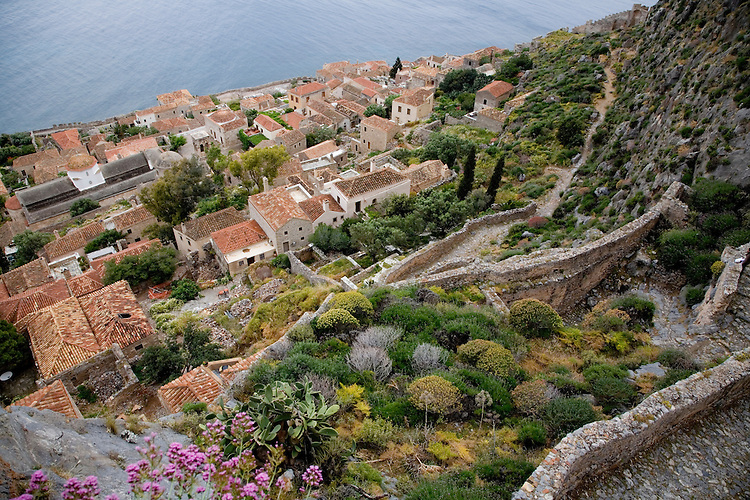 "The island fortress of Monemvasia is often referred to as the ""Gibraltar of Greece"".  It's also known as one of the most romantic towns in Greece, a living museum of Byzantine, Turkish, and Venetian history dating back to the 13th century..The town was founded in the 6th century AD by refugees fleeing Slavic raids into the Peloponnese.  It was never captured in battle."