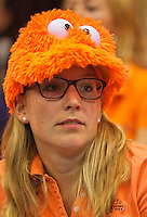 13-sept.-2013,Netherlands, Groningen,  Martini Plaza, Tennis, DavisCup Netherlands-Austria, First Rubber,   Dutch fan<br /> Photo: Henk Koster