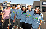 PACOIMA, CA. - October 10: (L-R) Thomas Calabro, Michael Rady, Colin Egglesfield, Stephanie Jacobnsen, Shaun Sipos and Jessica Lucas arrive at The 2009 American Dream Walk To Benefit Habitat For Humanity at Lowe's Home Improvement on October 10, 2009 in Pacoima, California.