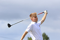 Josh Black (Lisburn) on the 14th tee during the Final round in the Connacht U16 Boys Open 2018 at the Gort Golf Club, Gort, Galway, Ireland on Wednesday 8th August 2018.<br /> Picture: Thos Caffrey / Golffile<br /> <br /> All photo usage must carry mandatory copyright credit (&copy; Golffile | Thos Caffrey)