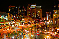 The San Diego Convention Center and the Gaslamp District, downtown San Diego, California.