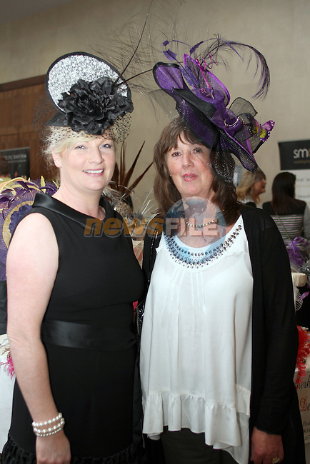 Elizabeth Tumilty (Featherhead Designs) with Deirdre Nevill at the City North Wedding Fair...Picture Jenny Matthews/Newsfile.ie