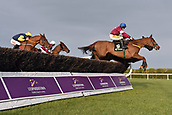 3rd February 2019, Leopardstown, Dublin, Ireland; Horses and jockeys during the Irish Gold Cup. Leopardstown racecourse.