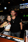 Kristen Alderson and Jeff Branson bartend at 15th Southwest Florida Soapfest 2014 Charity Weekend with a Bartending/Karaoke get together on May 26, 2104 at Porky's, Marco Island, Florida. (Photo by Sue Coflin/Max Photos)