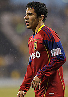 24 APRIL 2010:  Real Salt Lakes' Tony Beltran (2) during the Real Salt Lake at Columbus Crew MLS soccer game in Columbus, Ohio. Columbus Crew defeated RSL 1-0 on April 24, 2010.