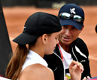 BOGOTÁ-COLOMBIA, 09-04-2019: Emiliana Arango de Colombia, recibe instrucciones de su técnico, durante partido por el Claro Colsanitas WTA, que se realiza en el Carmel Club en la ciudad de Bogotá. / Emiliana Arango de Colombia, receives instructions from her coach, during a match for the WTA Claro Colsanitas, which takes place at Carmel Club in Bogota city. / Photo: VizzorImage / Luis Ramírez / Staff.