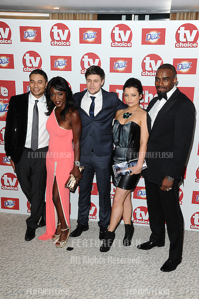 Ricky Norwood, Dianne Parish, Tony Disciple, Shona McGarty and Chucky Venn arriving for the 2012 TVChoice Awards, at the Dorchester Hotel, London. 10/09/2012. Picture by:  Steve Vas / Featureflash