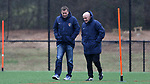 RALEIGH, NC - MARCH 13: North Carolina FC president Curt Johnson (left) with Courage head coach Paul Riley (ENG) (right). The North Carolina Courage held their first ever training session on March 13, 2017, at WRAL Soccer Center in Raleigh, NC to start their preseason before the 2017 NWSL Season. Prior to its offseason relocation the team was known as the Western New York Flash.