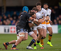 Wasps' Michele Campagnaro in action during todays match<br /> <br /> Photographer Bob Bradford/CameraSport<br /> <br /> European Rugby Heineken Champions Cup Pool 1 - Bath Rugby v Wasps - Saturday 12th January 2019 - The Recreation Ground - Bath<br /> <br /> World Copyright &copy; 2019 CameraSport. All rights reserved. 43 Linden Ave. Countesthorpe. Leicester. England. LE8 5PG - Tel: +44 (0) 116 277 4147 - admin@camerasport.com - www.camerasport.com