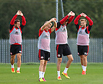 Warm up during the Sheffield Utd training session at the Shirecliffe Training Complex , Sheffield. Picture date: September 29th, 2016. Pic Simon Bellis/Sportimage