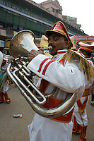 Musician in a parade in Varanasi, India