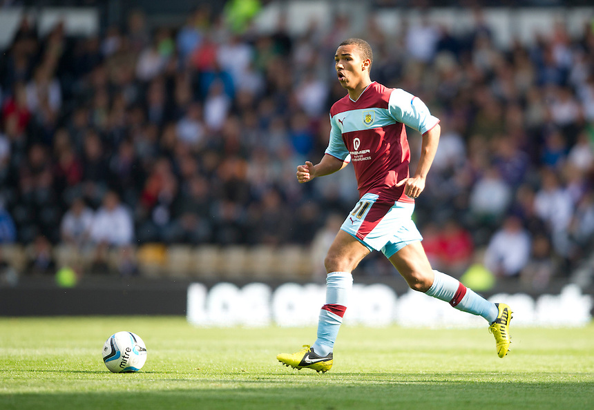 Burnley's Junior Stanislas ..Football - npower Football League Championship - Derby County v Burnley - Saturday 22nd September 2012 - Pride Park - Derby..
