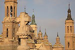 Basilica of Our Lady of Pilar Church; Zaragoza - Saragossa; Aragon; Spain