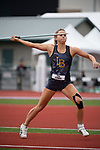 EUGENE, OR - JUNE 10: Riley Cooks of Long Beach State University competes in the javelin as part of the Heptathlon during the Division I Women's Outdoor Track & Field Championship held at Hayward Field on June 10, 2017 in Eugene, Oregon. (Photo by Jamie Schwaberow/NCAA Photos via Getty Images)