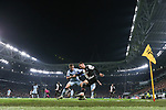 Aaron Ramsey of Juventus shields the ball from Kieran Trippier of Atletico Madrid in the corner during the UEFA Champions League match at Juventus Stadium, Turin. Picture date: 26th November 2019. Picture credit should read: Jonathan Moscrop/Sportimage