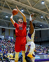 Stony Brook defeats UAlbany  69-60 in the America East Conference tournament quaterfinals at the  SEFCU Arena, Mar. 3, 2018.  Jakub Petras (#32).