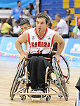 November 18 2011 - Guadalajara, Mexico:  Chad Jassman of Team Canada during the bronze medal game in the CODE Alcalde Sports Complex at the 2011 Parapan American Games in Guadalajara, Mexico.  Photos: Matthew Murnaghan/Canadian Paralympic Committee