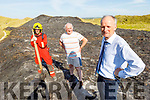 Standing at the scene of the badly fire damaged sand dunes on Banna Beach that were burned on Saturday afternoon.<br /> Front right: Pat Lawlor.<br /> Back l to r: Kerry Service Sub Station Officer John O'Donnell and George Flaherty