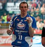 Nach 167 L&permil;nderspielen mit 576 Toren beendet Holger Glandorf seine Karriere in der deutschen Handball-Nationalmannschaft. Der 31-j&permil;hrige Linksh&permil;nder war 2007 Weltmeister und gewann im Juni mit der SG Flensburg-Handewitt die Champions League<br /> Archiv aus: <br />  HBL 08/09 Rueckrunderunde  28. Spieltag<br /> <br /> <br /> jubel bei Holger GLANDORF  ( Lemgo )<br /> <br /> Foto &copy; nph (  nordphoto  )
