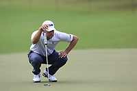 Lucas Gover (USA) on the 18th green during Friday's Round 2 of the 2017 PGA Championship held at Quail Hollow Golf Club, Charlotte, North Carolina, USA. 11th August 2017.<br /> Picture: Eoin Clarke | Golffile<br /> <br /> <br /> All photos usage must carry mandatory copyright credit (&copy; Golffile | Eoin Clarke)