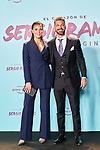 Rene Ramos and Lorena Gomez in the world preview of EL CORAZÓN DE SERGIO RAMOS, documentary series about the life of the captain of Real Madrid and the Spanish Soccer Team, at the Reina Sofía Museum on September 10, 2019 in Madrid, Spain.<br />  (ALTERPHOTOS/Yurena Paniagua)