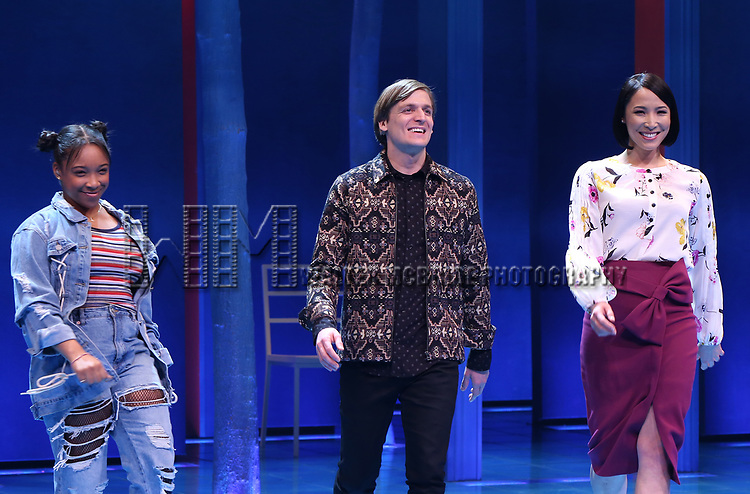 Treshelle Edmond, John McGinty and Julee Cerda during the Broadway opening night performance Curtain Call for 'Children of a Lesser God' at Studio 54 Theatre on April 11, 2018 in New York City.