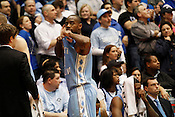 UNC's Marcus Ginyard appears dejected as he walks to the bench during the final minutes of the last regular season game against Duke at Cameron Indoor Stadium in Durham, N.C., Sat., March 6, 2010. The Blue Devils plowed over the Tar Heels 82-50. ..