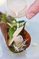 Europe/France/Languedoc-Roussillon/30/Gard/Nimes: Asperges blanches confites, moutarde d'Anchois recette de Michel Kayser du Restaurant: Alexandre