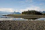 Alaska, Prince William Sound, Columbia Bay, Chugach Mountains, Heather Island,.