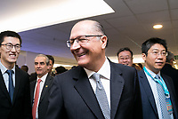 SAO PAULO, SP - 01.06.2017 - ALCKMIN-SP - O Governador Geraldo Alckmin visita a Latin America Safe City na manh&atilde; desta quinta-feira (1) no WTC hotel, zona sul de S&atilde;o Paulo.<br /> <br /> (Foto: Fabricio Bomjardim / Brazil Photo Press)