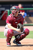 Florida State Seminoles Parker Brunelle #7 during a scrimmage vs the Philadelphia Phillies  at Bright House Field in Clearwater, Florida;  February 24, 2011.  Philadelphia defeated Florida State 8-0.  Photo By Mike Janes/Four Seam Images