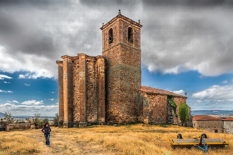 Gothic church of Nuestra Señora del Rosario, hamlet of Gallinero, Almarza, province of Soria,  Spain