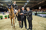Martin Fuchs, Fernanda Ameeuw, Walter Von Känel and Juan-Carlos Capelli at the Longines Hong Kong Masters 2015 at the Asiaworld Expo on 13 February 2015 in Hong Kong, China. Photo by Jerome Favre / Power Sport Images