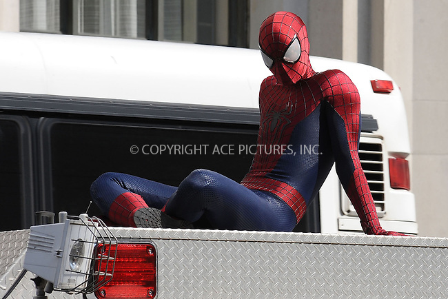 WWW.ACEPIXS.COM<br /> June 22, 2013, New York City<br /> <br /> The Amazing Spider Man 2 filming on Madison Avenue on June 22, 2013.<br /> <br /> By Line: Kristin Callahan/ACE Pictures<br /> ACE Pictures, Inc.<br /> tel: 646 769 0430<br /> Email: info@acepixs.com<br /> www.acepixs.com<br /> Copyright:<br /> Kristin Callahan/ACE Pictures