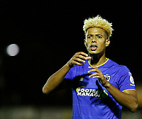 AFC Wimbledon's Lyle Taylor motions for a drink during the Sky Bet League 1 match between AFC Wimbledon and MK Dons at the Cherry Red Records Stadium, Kingston, England on 22 September 2017. Photo by Carlton Myrie / PRiME Media Images.