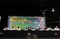 SAO PAULO 18 DE FEVEREIRO DE 2014 - COLETIVA DE IMPRENSA - CARNAVAL 2014 - Na manhã de hoje, 18, aconteceu a coletiva de imprensa, referente ao Carnaval 2014, no Auditório Elis Regina, dentro do Sambódromo do Anhembi. foto: Paulo Fischer/Brazil Photo Press.